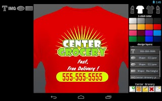 Screenshot of T-shirt Designer