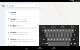 Screenshot of Swype Keyboard