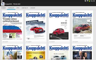Screenshot of Kauppalehti - näköislehdet