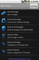 Screenshot of SMS Cleaner2 Trial