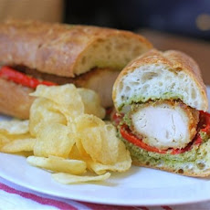 Chicken Cutlet Baguette with Gremolata & Roasted Red Peppers