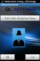 Screenshot of Full Screen Caller ID