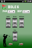 Screenshot of Golf Scorer Free