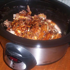 Crock Pot Barbecued Ribs