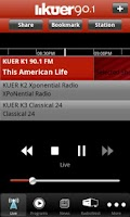 Screenshot of KUER Public Radio App