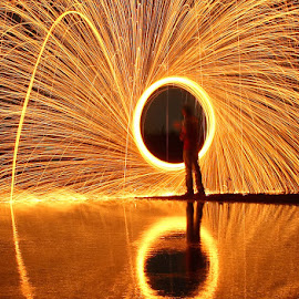 I Love Fire by Karthi Keyan - Abstract Light Painting