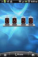 Screenshot of Nixie World Time & Date Widget