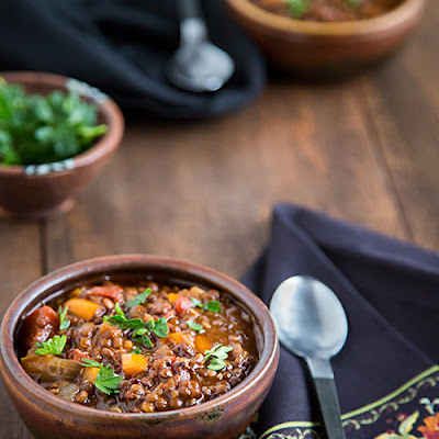 Black and Red Lentil Chili
