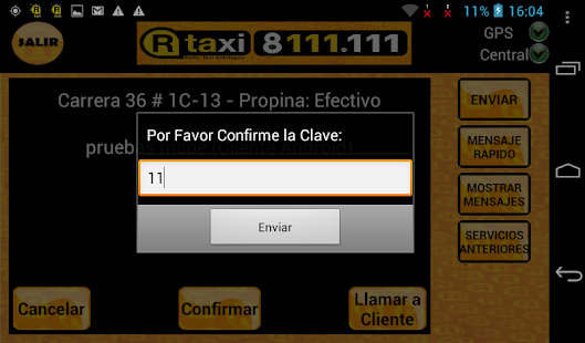 RTaxi Taxista - screenshot