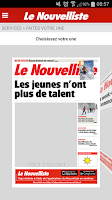 Screenshot of Le Nouvelliste en continu