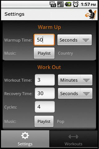 Workout Manager - Playlist