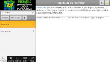 Screenshot of Michaelis Conciso Português