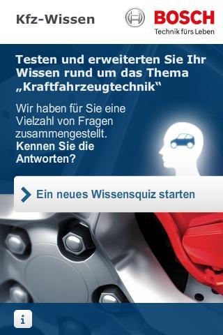 Bosch Kfz Wissensquiz