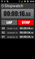 Screenshot of Stopwatch