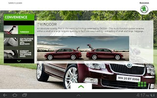 Screenshot of Skoda Superb Official App