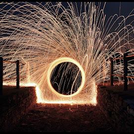 SteelWoolAP by Adam Partyka - Abstract Patterns ( lights, pattern, steel wool, wool, light,  )