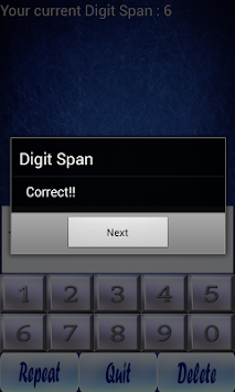 digit span Download free digit span 1 for your android phone or tablet, file size: 422 mb, was updated hi, there you can download apk file digit span for android free, apk file version is 1 to download to.