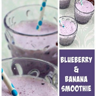 Creamy Blueberry and Banana Smoothie