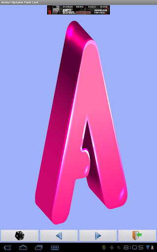 Free Animal Alphabet FlashCard