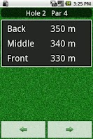 Screenshot of HIO Golf GPS Lite