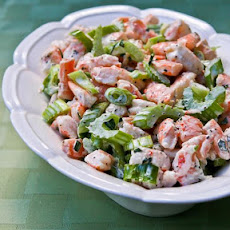 Tarragon Shrimp Salad with Celery, Green Onion, and Celery Seed