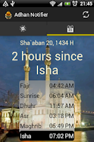 Screenshot of Adhan Notifier