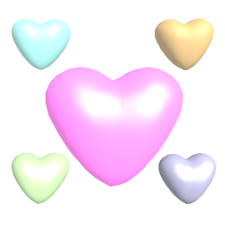 Cute 3D Hearts Live Wallpaper
