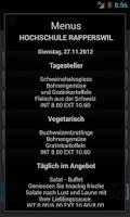 Screenshot of SV Menu