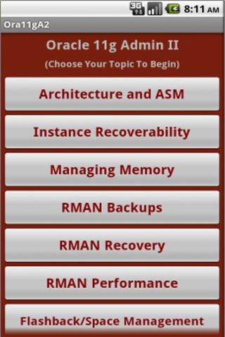 Oracle 11g OCP Quiz App