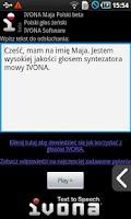 Screenshot of IVONA Maja Polish beta
