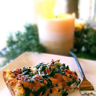 Gluten-Free Smoked Salmon and Spinach Goat Cheese Strata