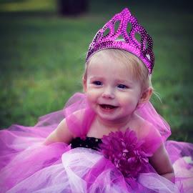 Happy 1st Birthday Princess Kilynn!!!! by Connie Brewer - Babies & Children Child Portraits
