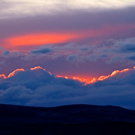 Cloud Fire by Vern Tunnell - Landscapes Cloud Formations