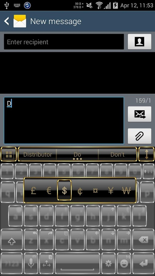 Theme for A.I.type Frame Gold Screenshot 2