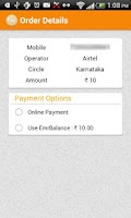 Screenshot of Mobile Recharge & Tariffs