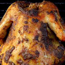 Beer-can chicken on the grill by Liz Hahn - Food & Drink Meats & Cheeses
