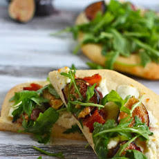 Goat Cheese, Fig and Bacon Flatbreads