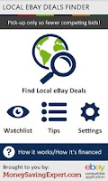 Screenshot of Local Ebay Deals Finder