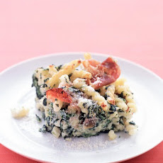 Baked Pasta with Spinach, Ricotta, and Prosciutto