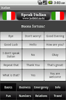 Screenshot of Speak Italian Free