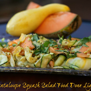 Zucchini, Yellow Squash and Cantaloupe Salad
