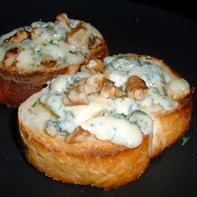 Blue Cheese Walnut Toasts