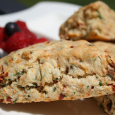 Sun-Dried Tomato, Basil and Black Pepper Scones