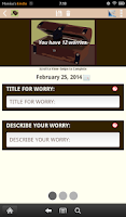 Screenshot of Worry Box---Anxiety Self-Help