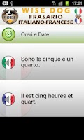 Screenshot of French Italian Phrasebook