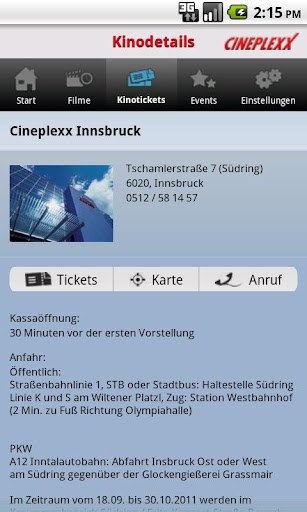 cineplexx for android screenshot