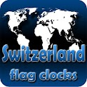 Switzerland flag clocks icon
