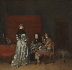 RIJKS: Gerard ter Borch (II): Gallant Conversation, Known as 'The Paternal Admonition' 1654