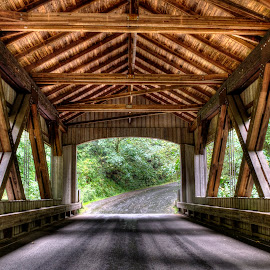 Taking cover by Doug Keder - Buildings & Architecture Public & Historical ( covered bridge )