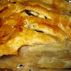 Apple-Cranberry Puff Pastry Strudel Slices